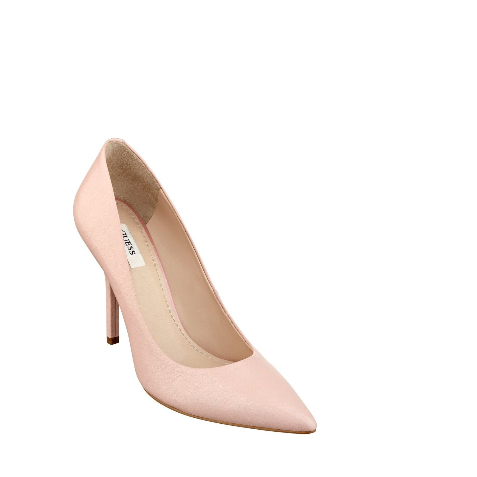guess light pink pointed toe pumps